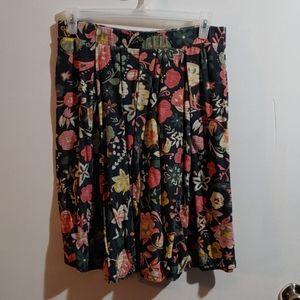 LuLaRoe Madison 2xl pleated floral skirt EUC